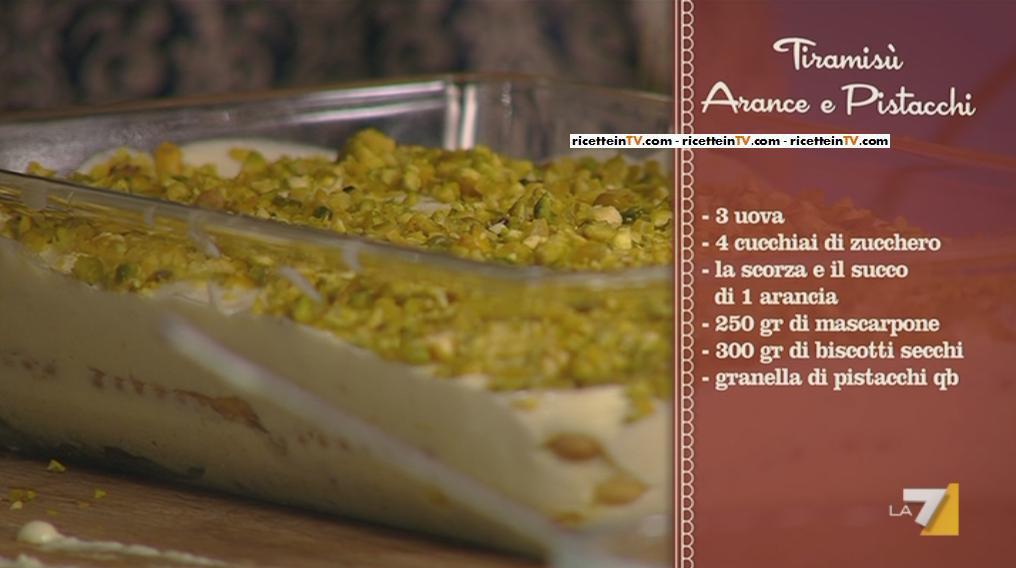 I Menu Di Benedetta La Ricetta Del Tiramisu Arance E Pistacchi