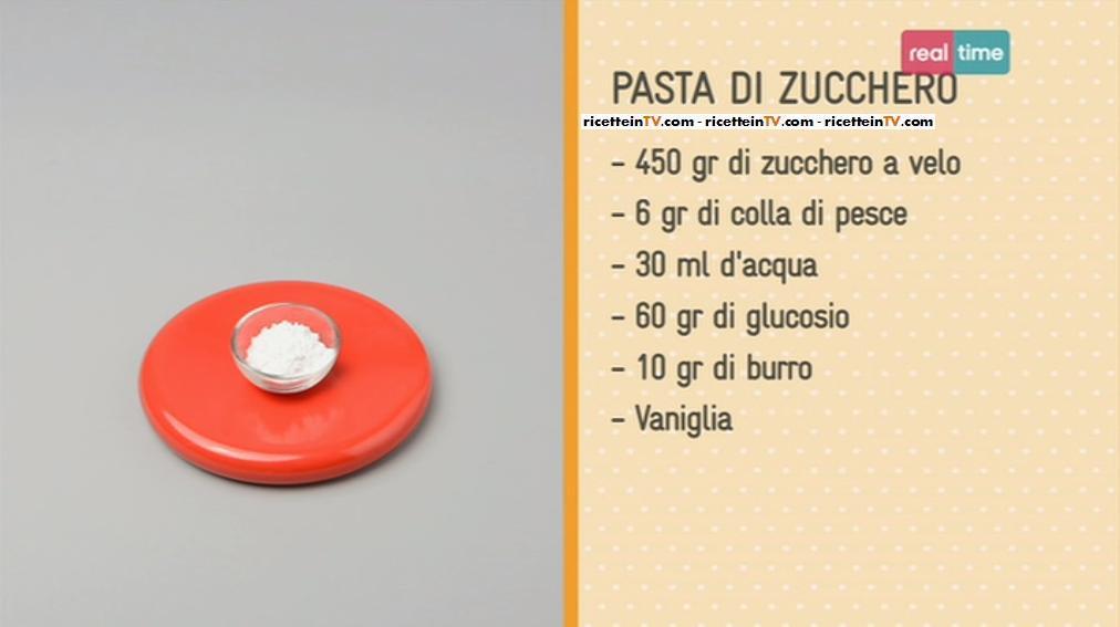 Ricetta pasta di zucchero facebook
