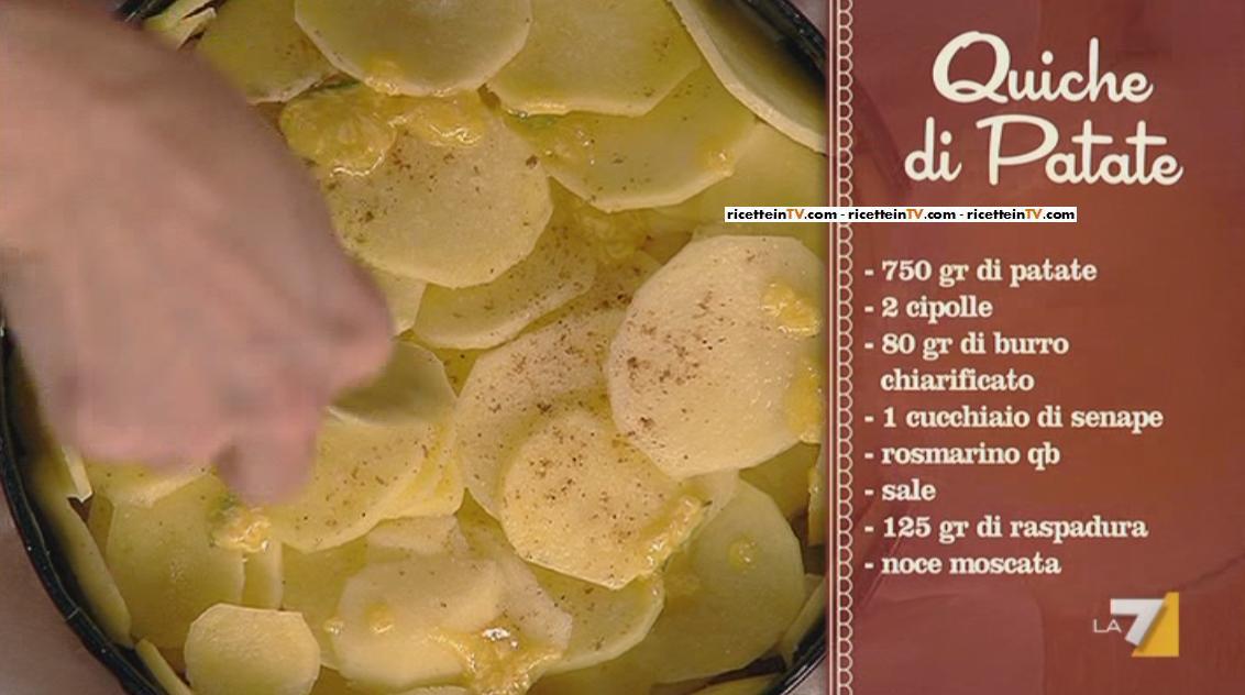 I Menu Di Benedetta La Ricetta Della Quiche Di Patate Ricette In Tv