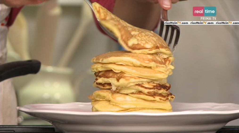 pancake al cocco con banana