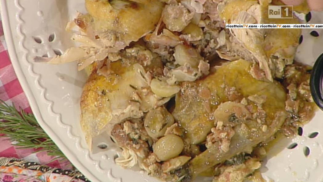 la prova del cuoco | ricetta faraona ripiena all'uva di anna moroni - Cosa Cucinare Oggi A Pranzo