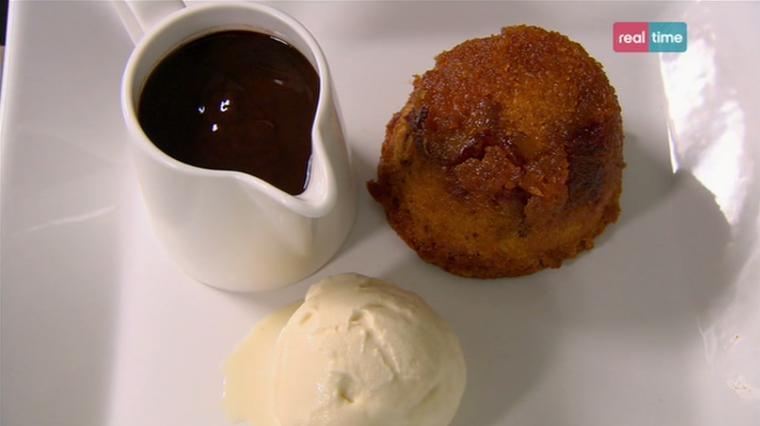 tortino al caramello con crema al cioccolato