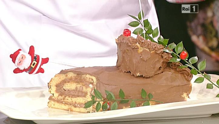 Tronchetto Di Natale La Prova Del Cuoco.La Prova Del Cuoco Ricetta Tronchetto Natalizio Buche De