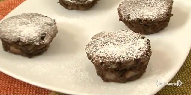 muffin di pere e cioccolato
