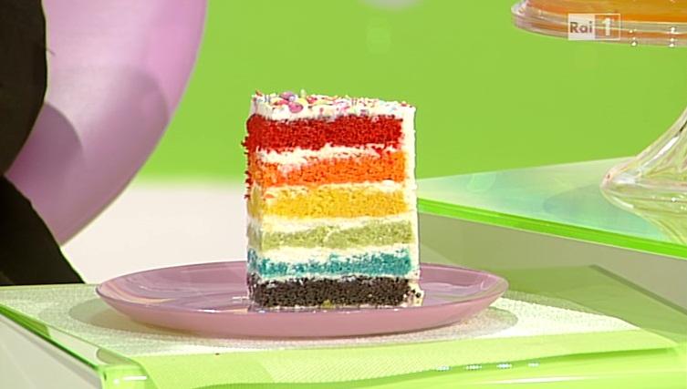 Dolci dopo il tigg ricetta torta arcobaleno di ambra romani for Dolci romani