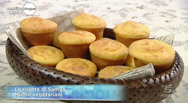 Muffin al formaggio vegetariani