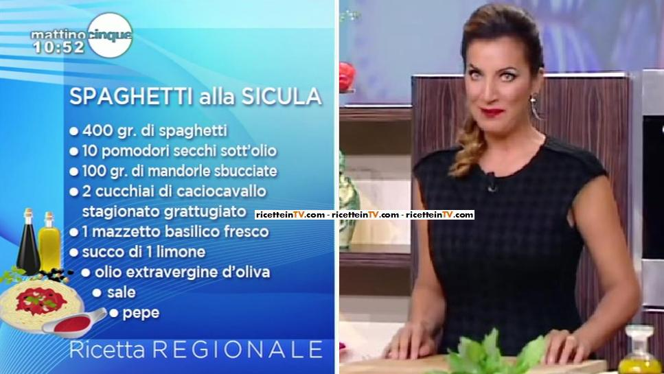 Mattino Cinque Le Ricette Di Samya Gli Spaghetti Alla Sicula