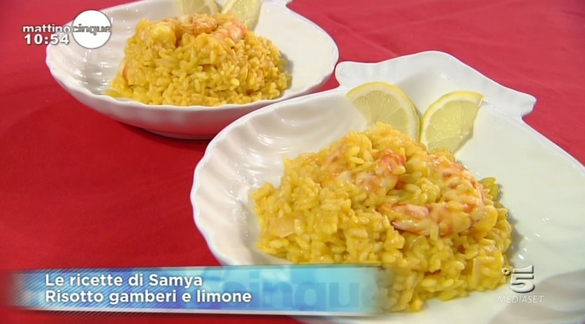 risotto gamberi e limone