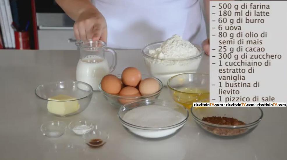 Pronto in tavola ricetta ciambella marmorizzata - Ricette monica bianchessi pronto in tavola ...