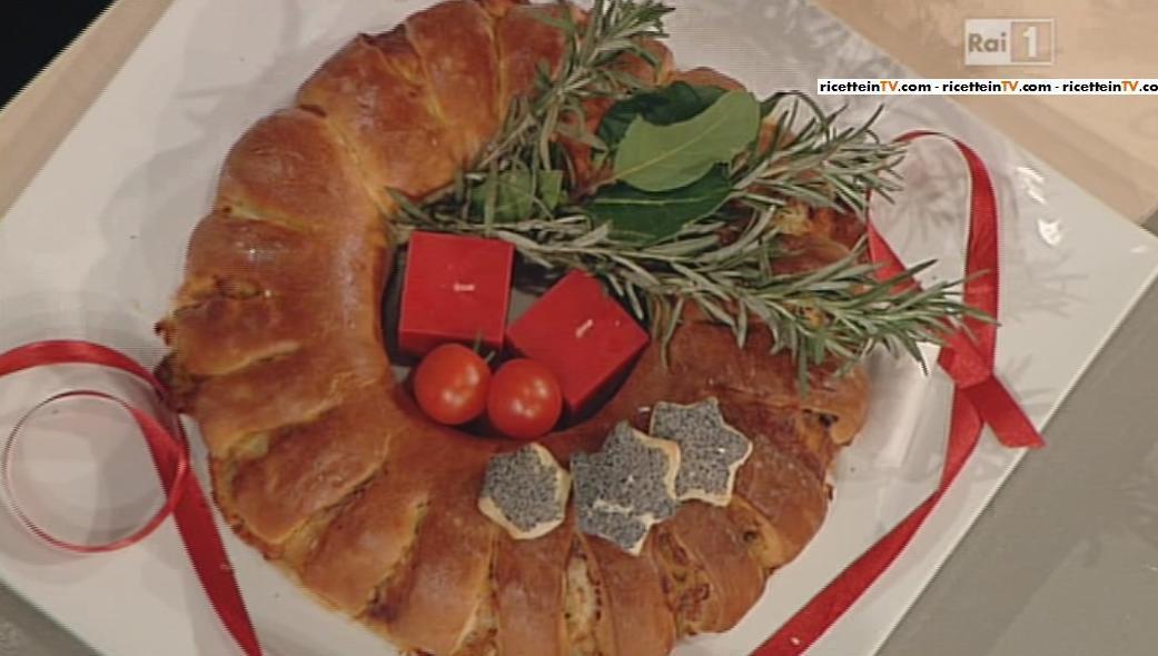 La Prova Del Cuoco Ricetta Corona Di Natale Natalia Cattelani