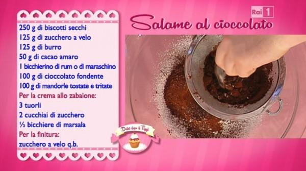 Ricetta Salame Al Cioccolato Montersino.Dolci Dopo Il Tiggi Ricetta Salame Al Cioccolato Di Anna Moroni