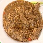 zuppa di ceci radicchio e rosticciana