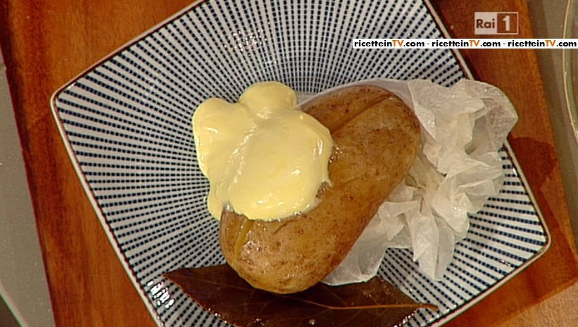 patata al cartoccio con maionese chantilly