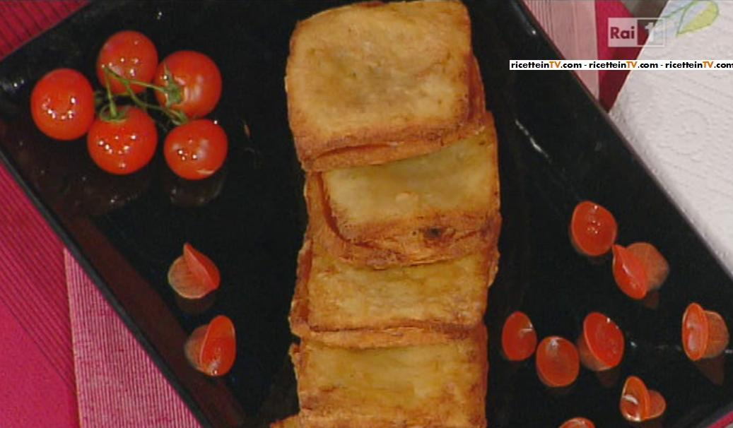 La prova del cuoco ricetta mozzarella in carrozza anna for Mozzarella in carrozza parodi