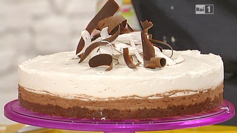 La prova del cuoco ricetta doppio cheesecake al for Dolci romani