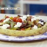 crostata con verdure e burrata