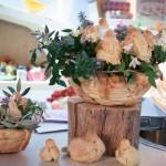cesto di pane con colombine