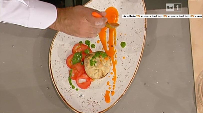 tortini salati con zucchine Camembert e pesto alla menta