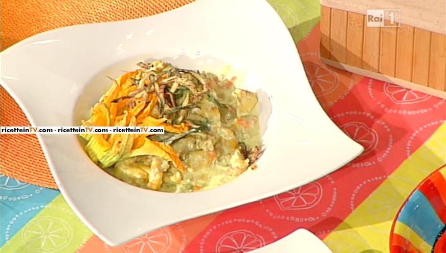 pollo alla crema di yogurt e zucchine fritte