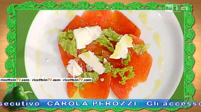 carpaccio di anguria gentilina e ricotta salata