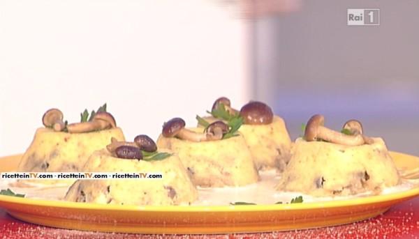 sformatini di funghi alla fontina