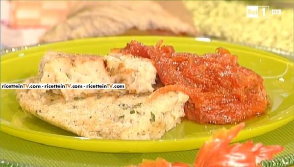 tortino di patate con salsa ristretta di pomodoro