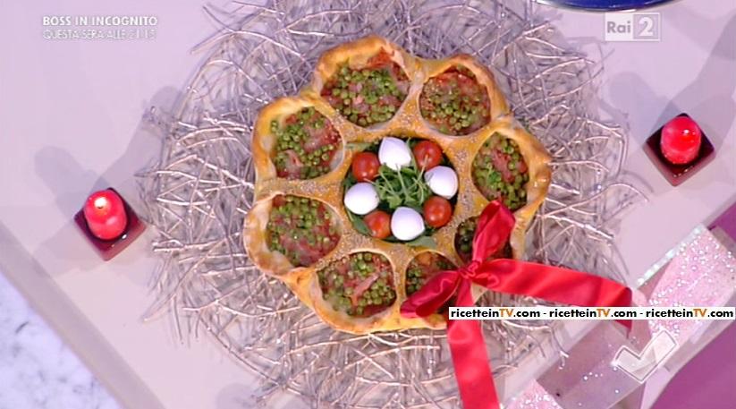 pizza ghirlanda natalizia