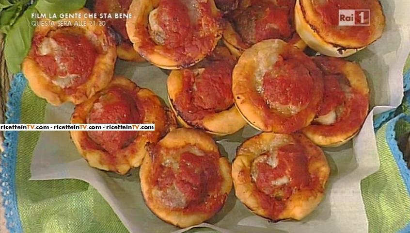 muffin ripieni di polpette alla pizzaiola