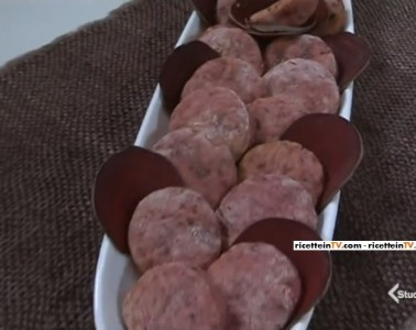 biscotti vegani con barbabietola rossa