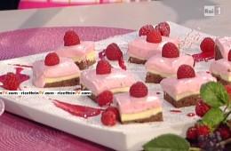 brownies cheesecake ai lamponi di Ambra Romani