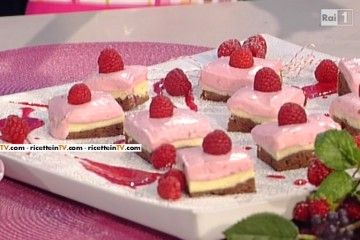 brownies cheesecake ai lamponi di Ambra Romani