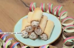 chiacchiere cannolo con ricotta e cioccolato
