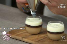 panna cotta al caffè con biscottini al cacao