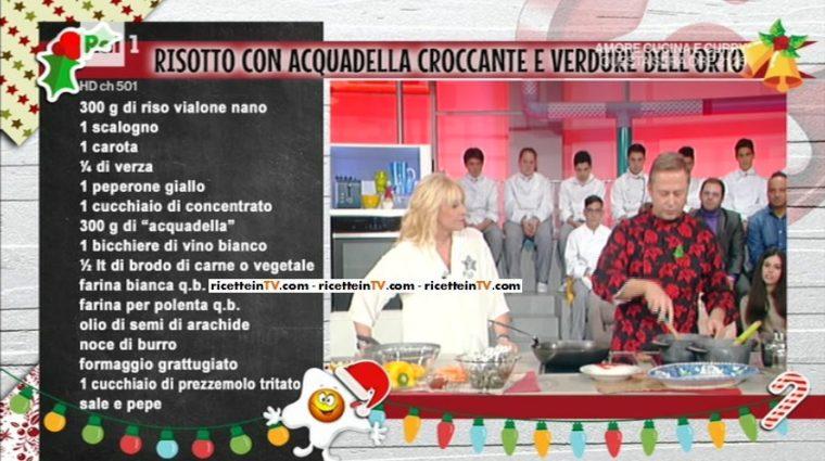 risotto con acquadella croccante e verdure dell'orto di Daniele Persegani