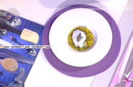 zuppetta di patate con cuore di carciofo
