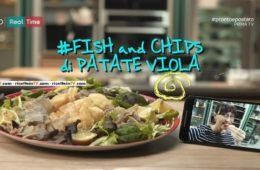 fish and chips di patate viola