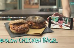 slow Chicken Bagel
