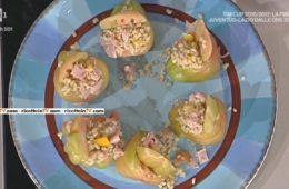 pomodori ripieni di orzo peperoni e mortadella di Alessandra Spisni