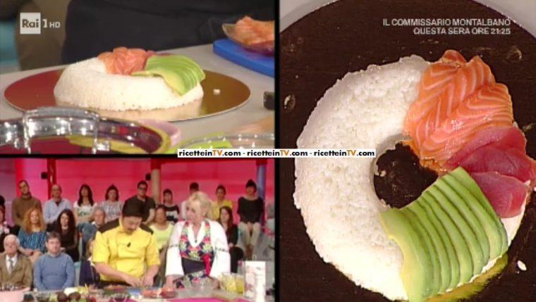 Ricetta Sushi Hiro.La Prova Del Cuoco Ricetta Sushi Cake Torta Di Sushi Di Hiro Shoda