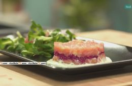 tartare di salmone ai lamponi di Benedetta Parodi