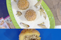 tortino di patate e zucca con cuore di porcini di Daniele Persegani
