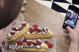 eclair cheesecake
