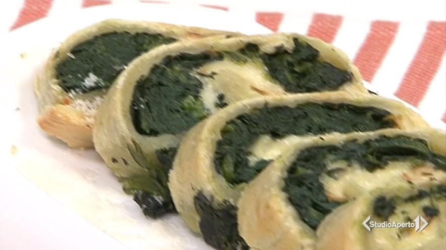 girelle di pasta matta con spinaci e scamorza