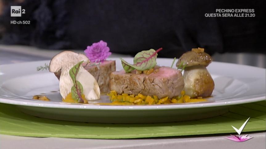 filetto di vitello zucca e porcini di Roberto Conti