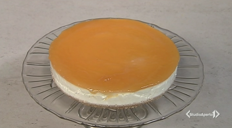 cheesecake all'arancia