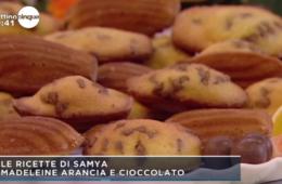 madeleine arancia e cioccolata di Samya