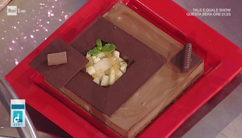 mattonella di cioccolato e gianduia con pere di Guido Castagna