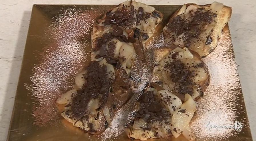 bruschetta dolce di panettone