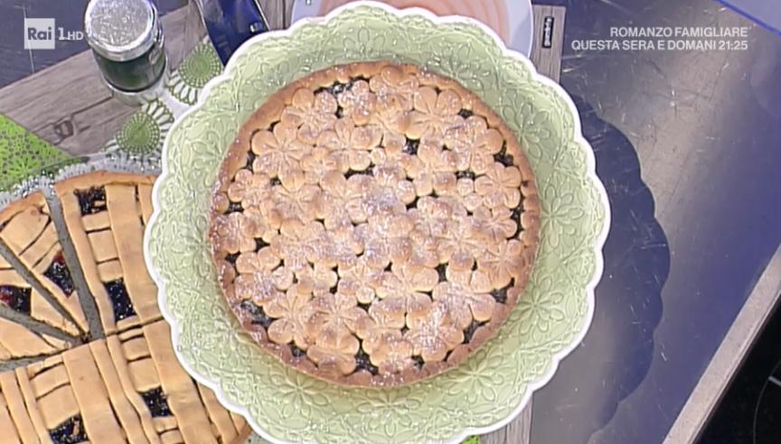 crostata all'olio con biscotto amarena di Natalia Cattelani