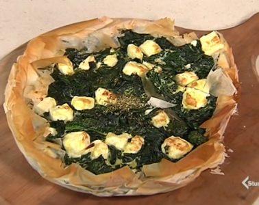 torta salata feta e spinaci